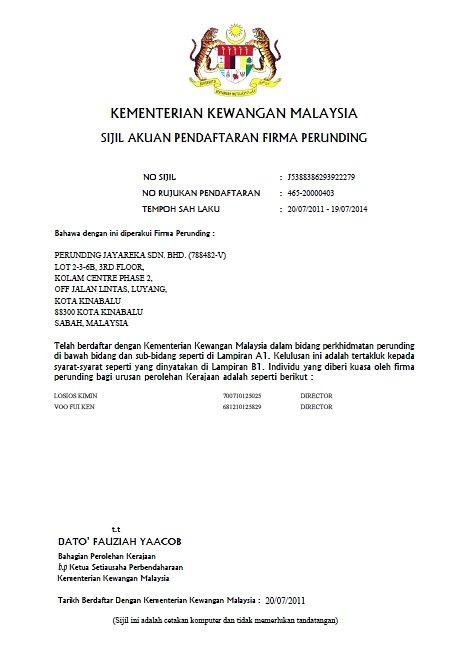 Perunding Jayareka Registered M&E Engineers in Malaysia